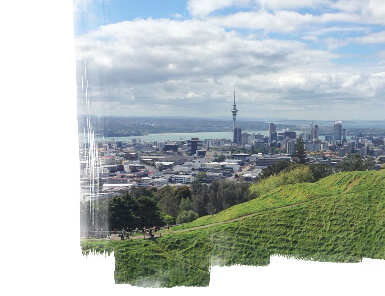 Auckland city centre view from Mount Eden
